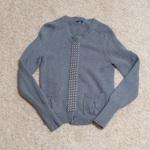 Small J. Crew button-up Gray Cardigan